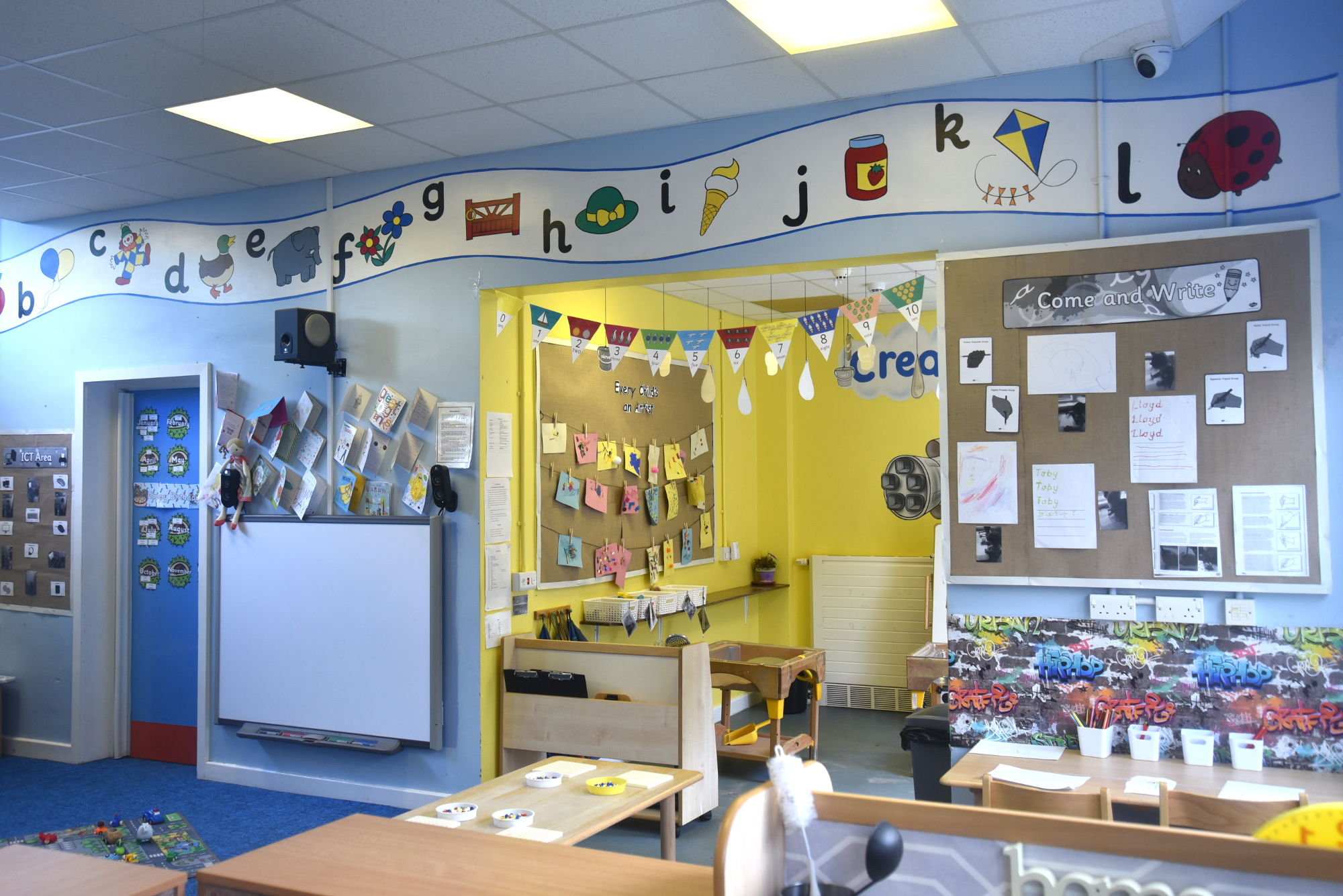 The preschool room at Stainsby